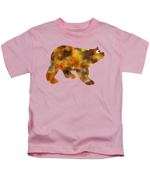 Kids T-Shirt featuring the mixed media Brown Bear Silhouette by Christina Rollo