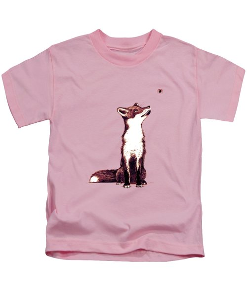 Brown Fox Looks At Thing Kids T-Shirt