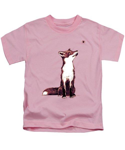 Brown Fox Looks At Thing Kids T-Shirt