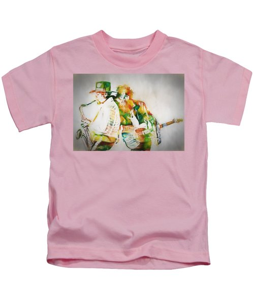 Bruce And The Big Man Kids T-Shirt by Dan Sproul