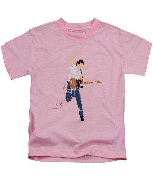 Bruce Springsteen Typography Art Kids T-Shirt