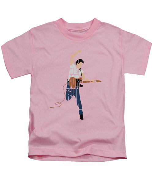 Bruce Springsteen Typography Art Kids T-Shirt