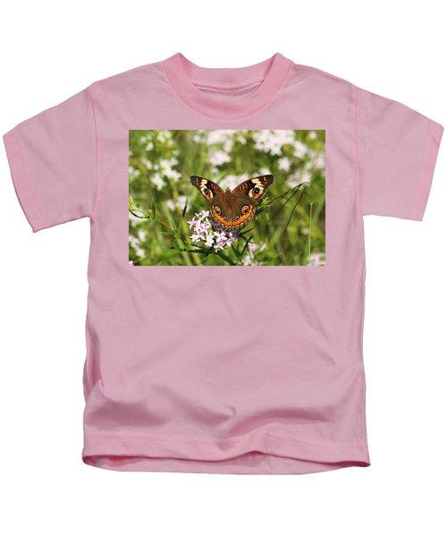 Buckeye Butterfly Posing Kids T-Shirt
