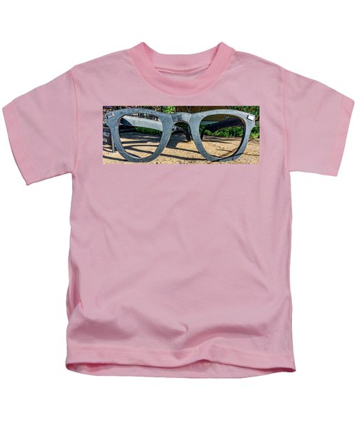 Buddy Holly Glasses Kids T-Shirt