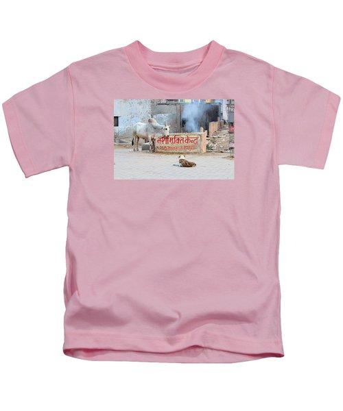 Bull And Dog, Vrindavan Kids T-Shirt