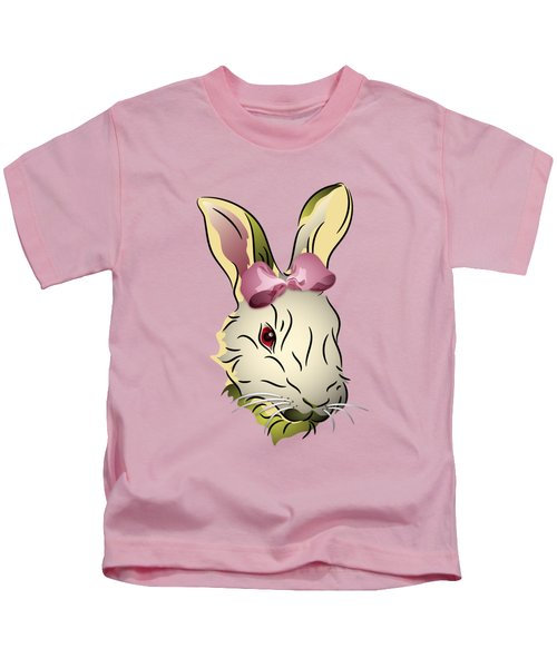Bunny Rabbit With A Pink Bow Kids T-Shirt