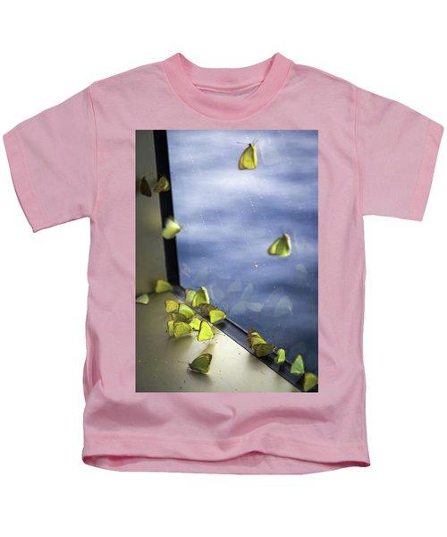 Butterflies At Sea Kids T-Shirt