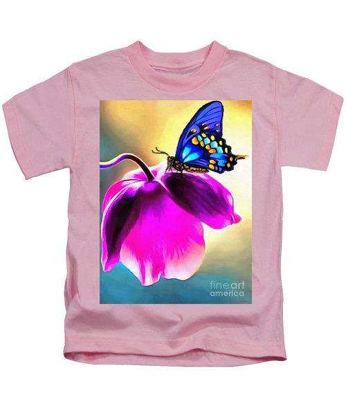 Butterfly Floral Kids T-Shirt