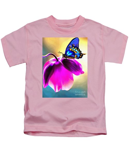 Butterfly Floral Kids T-Shirt