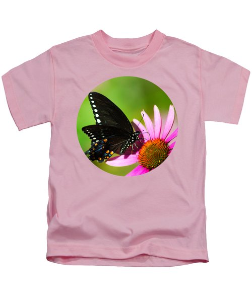 Butterfly In The Sun Kids T-Shirt by Christina Rollo