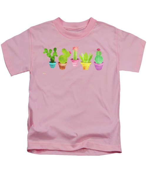 Cactus Plants In Pretty Pots Kids T-Shirt