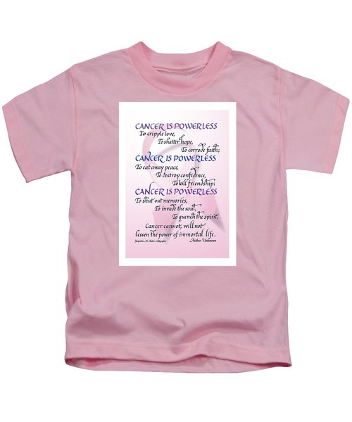 Cancer Is Powerless Kids T-Shirt
