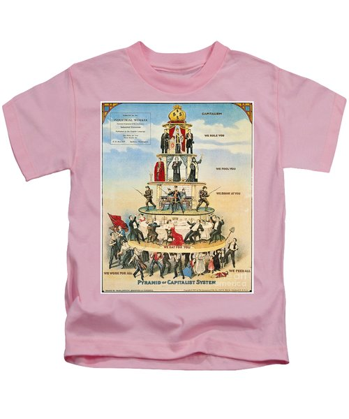 Capitalist Pyramid, 1911 - To License For Professional Use Visit Granger.com Kids T-Shirt
