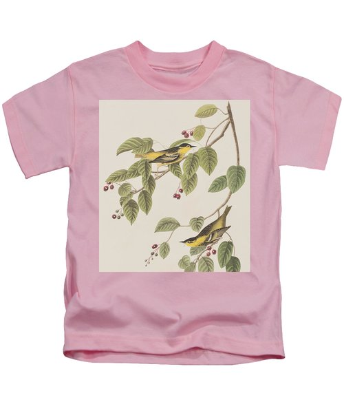 Carbonated Warbler Kids T-Shirt by John James Audubon