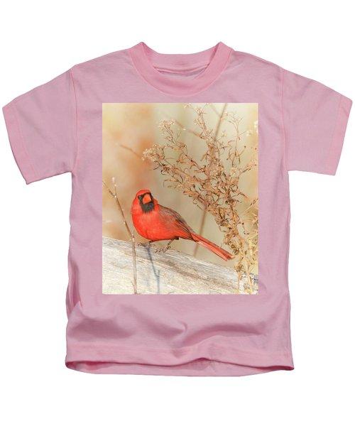 Cardinal In Fall  Kids T-Shirt