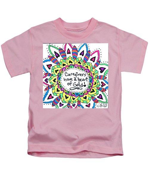 Caregiver Flower Kids T-Shirt