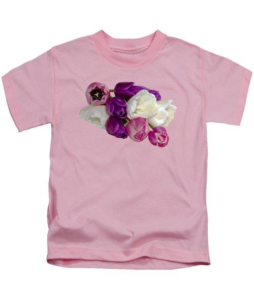 Cascading Tulips Kids T-Shirt by Phyllis Denton