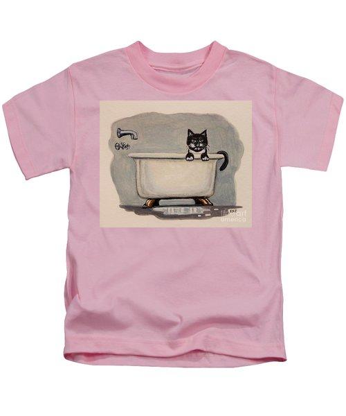 Cat In The Bathtub Kids T-Shirt