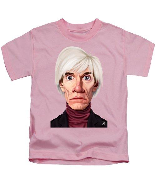 Celebrity Sunday - Andy Warhol Kids T-Shirt