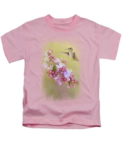 Chasing Lilacs Kids T-Shirt by Jai Johnson