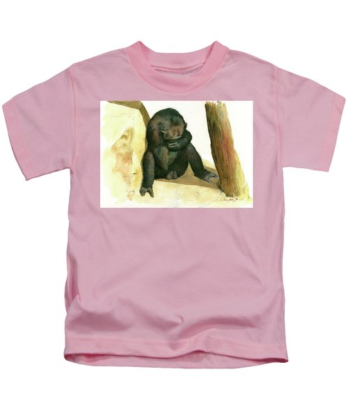 Chimp Kids T-Shirt by Juan Bosco