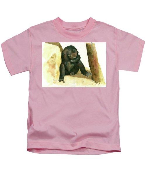 Chimp Kids T-Shirt by Juan Bosco