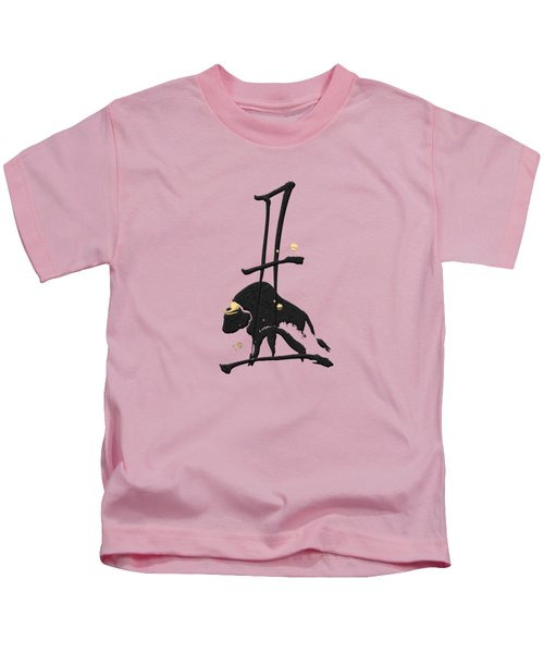 Chinese Zodiac - Year Of The Ox On Rice Paper Kids T-Shirt