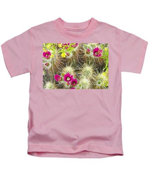 Cholla Cactus Blooms Kids T-Shirt