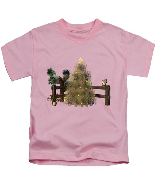Christmas In The Desert Kids T-Shirt