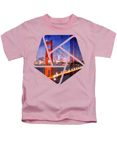 City Art Golden Gate Bridge Composing Kids T-Shirt