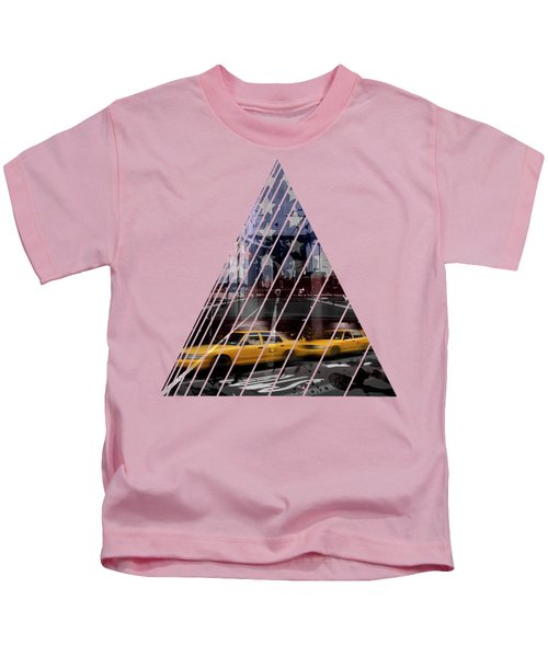City-art Nyc Composing Kids T-Shirt by Melanie Viola