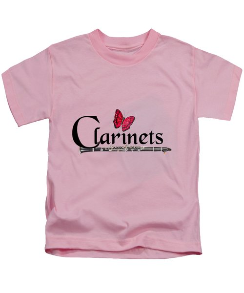 Clarinets And Butterfly Kids T-Shirt
