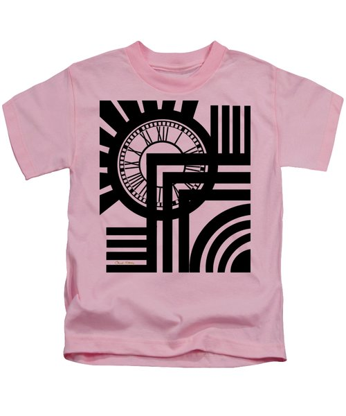 Clock Design Vertical Kids T-Shirt