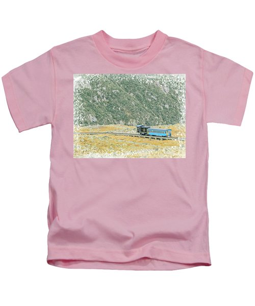 Cog Railroad Train. Kids T-Shirt