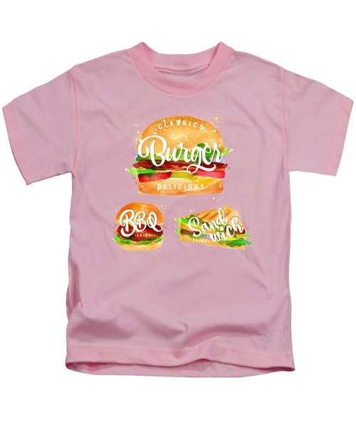 Color Burger Kids T-Shirt by Aloke Creative Store