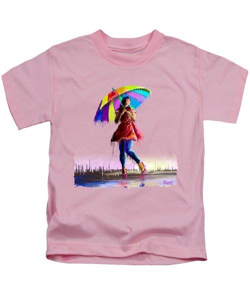 Colorful Umbrella Kids T-Shirt