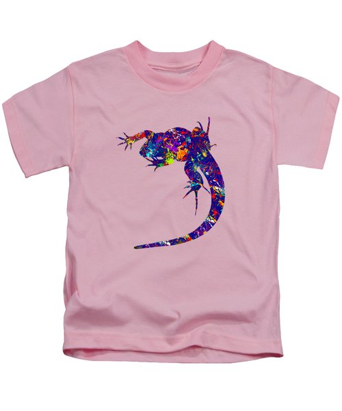 Colourful Lizard -2- Kids T-Shirt by Bamalam  Photography