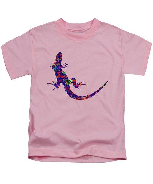 Colourful Lizard Kids T-Shirt by Bamalam  Photography