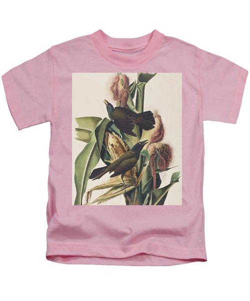 Common Crow Kids T-Shirt by John James Audubon