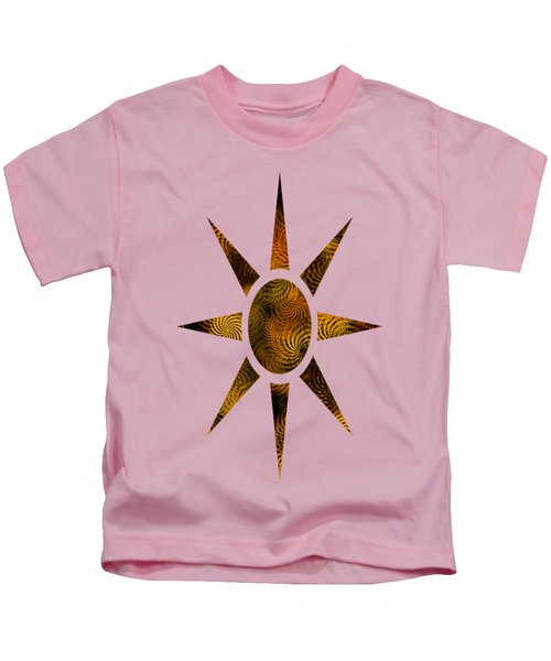 Copper Spirals Abstract Square Kids T-Shirt