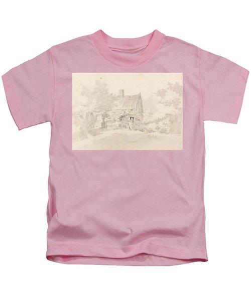 Cottage Among Trees Kids T-Shirt