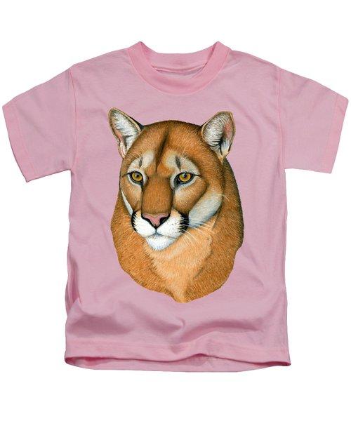 Cougar Portrait Kids T-Shirt