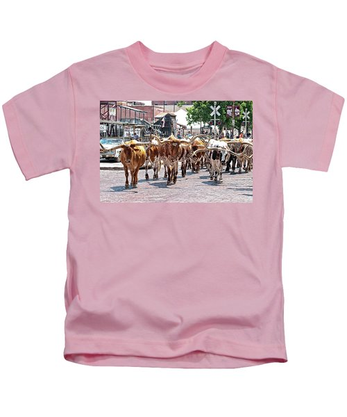 Cowtown Stockyards Kids T-Shirt