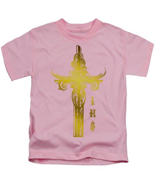 Cross Ihs Gold Kids T-Shirt