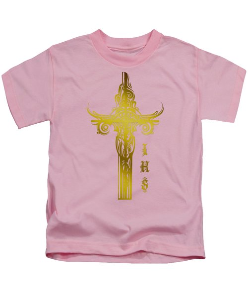 Cross Ihs Gold Kids T-Shirt