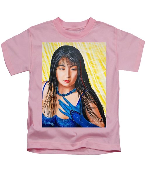Crystal Blue China Girl            From   The Attitude Girls  Kids T-Shirt