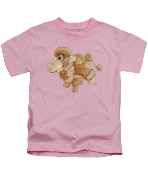 Cuddly Camel Kids T-Shirt by Angeles M Pomata