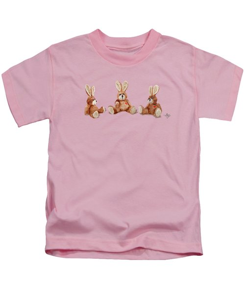 Cuddly Care Rabbit II Kids T-Shirt by Angeles M Pomata