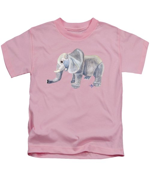 Cuddly Elephant II Kids T-Shirt by Angeles M Pomata