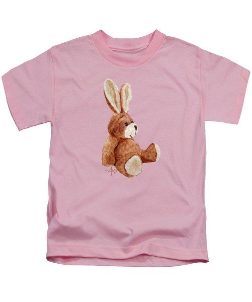 Cuddly Rabbit Kids T-Shirt by Angeles M Pomata